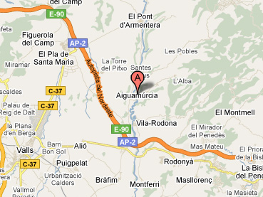 mapa de Casa Rural El Xiprer