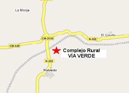 mapa de Casas Rurales Vía Verde