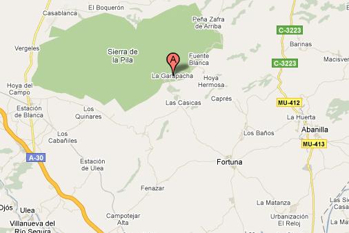 mapa de Hospederia Rural La Garapacha