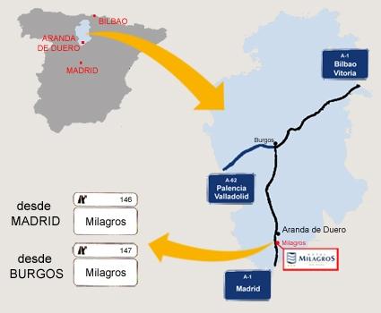 mapa de Hotel Milagros Rio Riaza