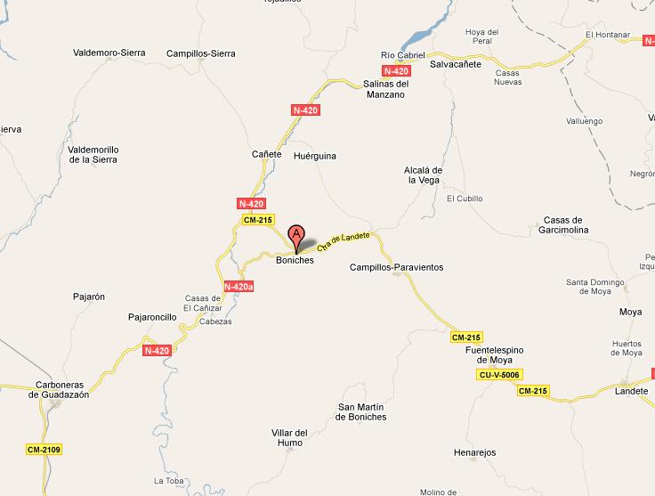 mapa de Casa Rural El Rodeno