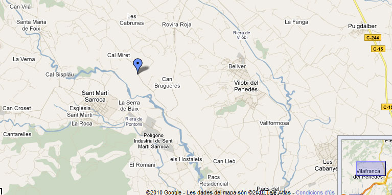 mapa de Cal Salvet