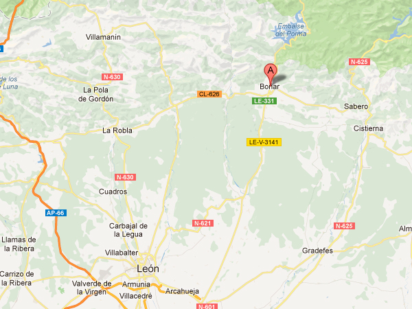 mapa de Casa Rural El Negrillón
