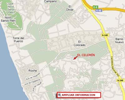 mapa de El Celemin de Conil