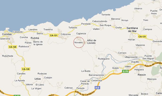 mapa de La Matilda