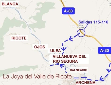 mapa de La Joya Del Valle De Ricote