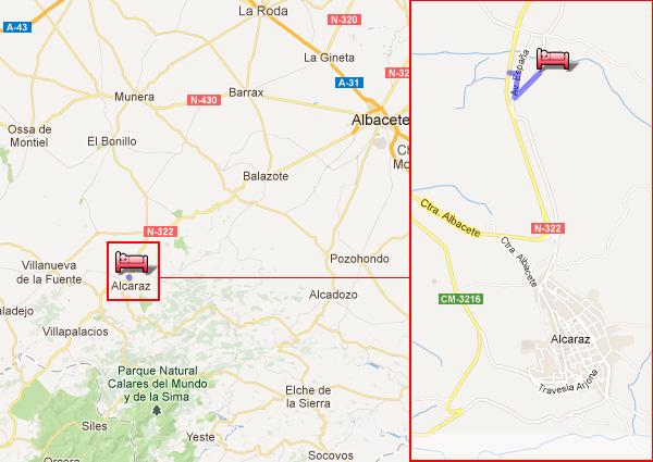 mapa de Casa Rural Finca El Arroyo