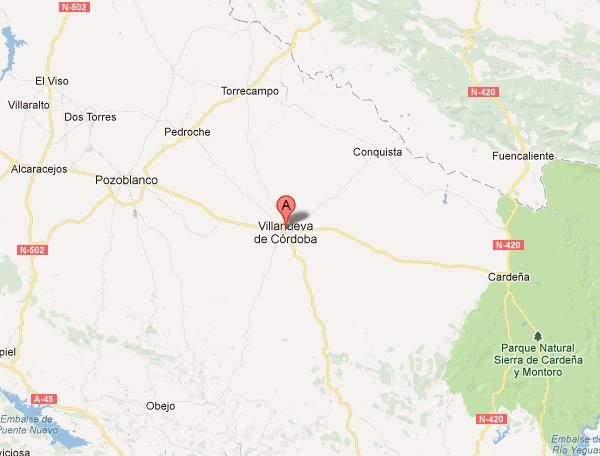 mapa de Casa Rural Pedroches