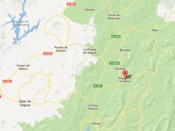 mapa de Viviendas Turismo Rural Galiano