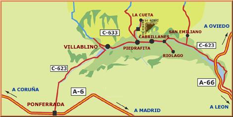 mapa de Posada Real El Rincon De Babia