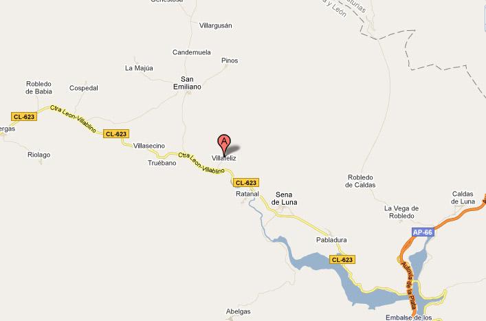 mapa de Entre Babia Y La Luna Duendes