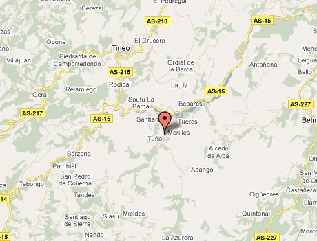 mapa de Hotel Torre De Tuña