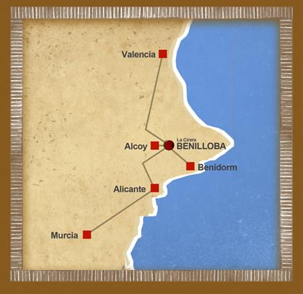 mapa de Casa Rural La Cirera