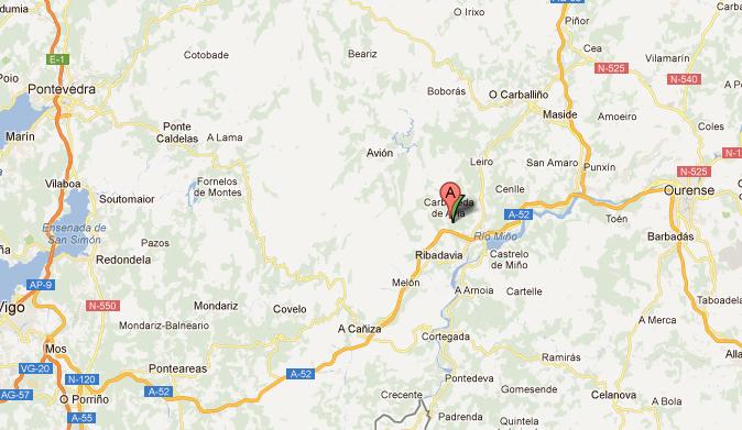 mapa de Casa Da Solaina