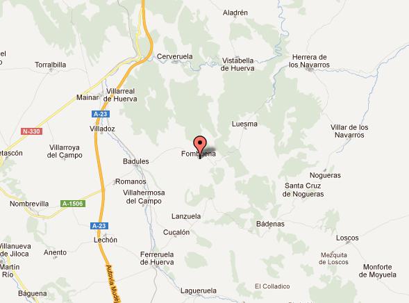 mapa de Casa Rural El Campés