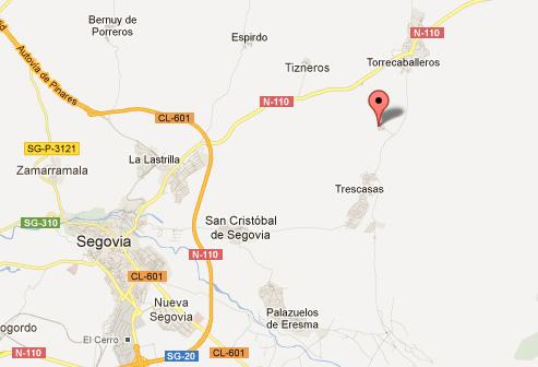 mapa de El Zaguán De Cabanillas