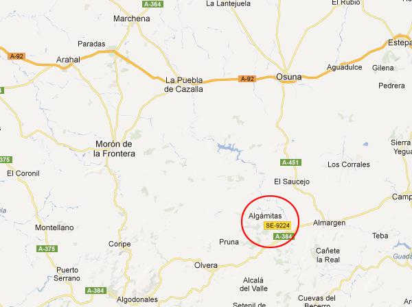 mapa de Complejo Rural El Peñón