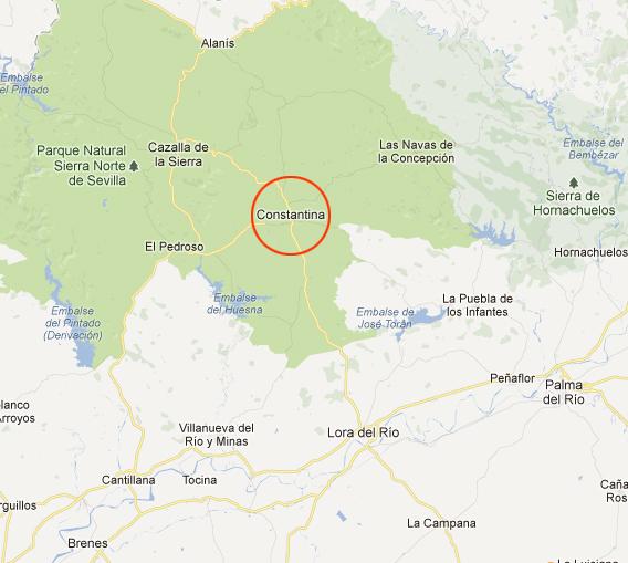 mapa de Cartojal Rural- Casa Quinto