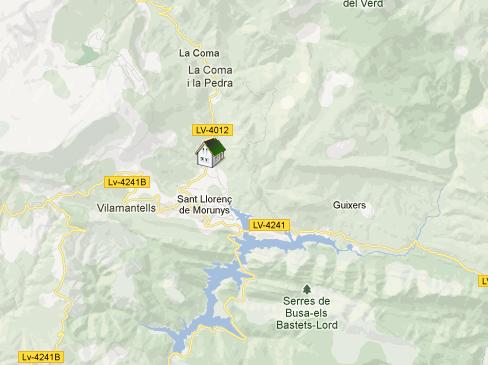 mapa de Alberg Torre Del Baró