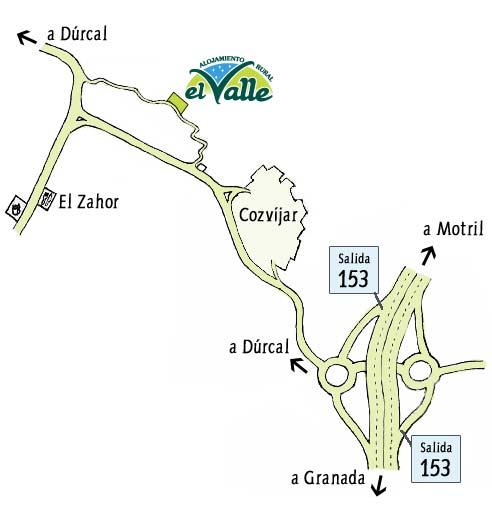 mapa de El Valle Casa El Laurel
