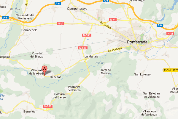 mapa de Casa Rural Jose O Pequeno