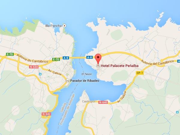 mapa de Hotel Palacete Peñalba