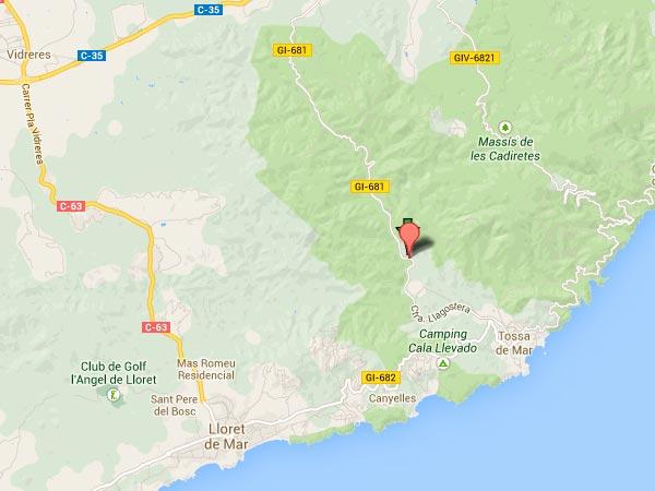 mapa de Mas Can Garriga