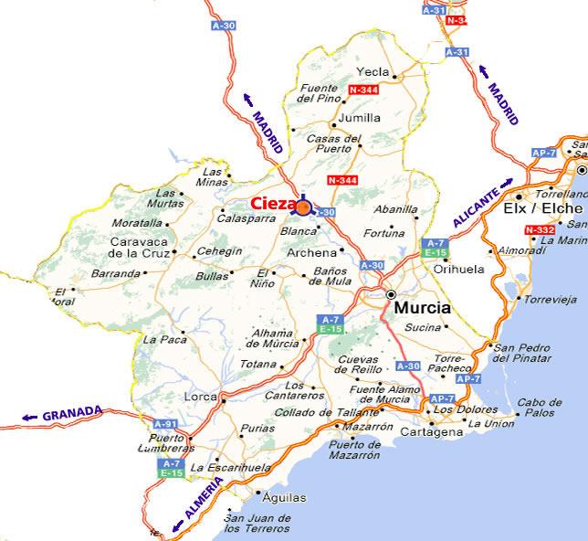 mapa de Casa Rural El Milano