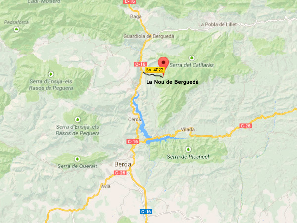 mapa de Viladomat Rural - Refugi