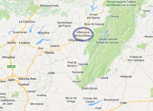 mapa de Alojamiento Rural El Nolo