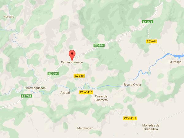 mapa de Casa Rural El Corralino