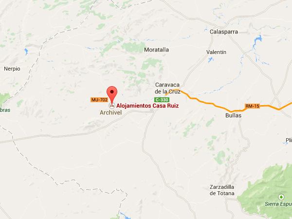 mapa de Casa Rural Caravaca - Casa Ruiz