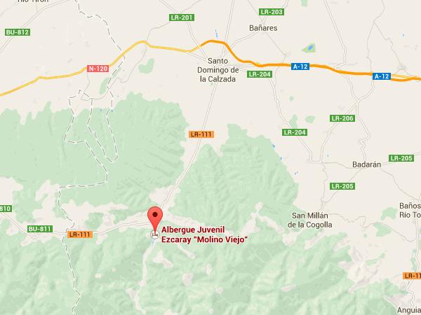 mapa de Albergue El Molino Viejo