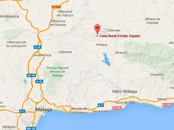 mapa de Casa Rural Cortijo Zapata