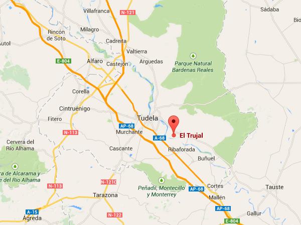 mapa de El Trujal De Las Bardenas