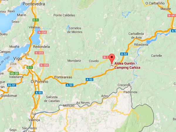 mapa de Aldea Guntin - Camping Cañiza