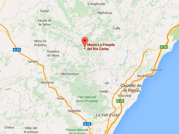 mapa de Posada Del Rio Carbo