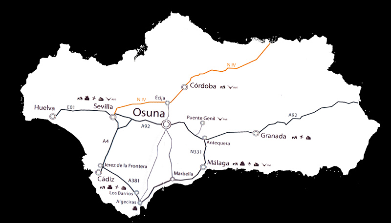 mapa de Casa Rural Las Viñas De Osuna