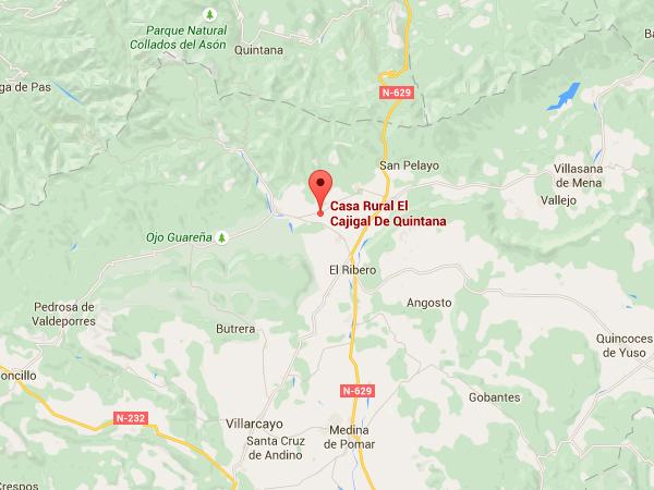 mapa de El Cajigal De Quintana
