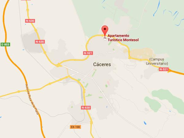 mapa de Apartamento Turístico Montesol