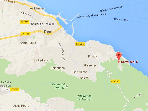 mapa de Villa Chiquita