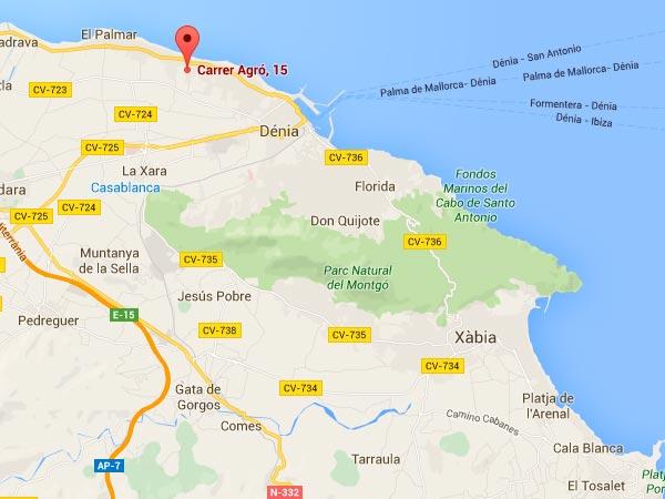 mapa de Villa Marina