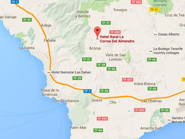 mapa de Hotel Rural La Correa Del Almendro