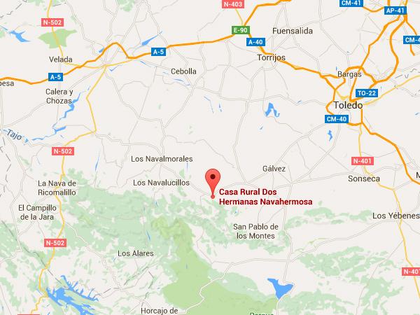 mapa de Casa Rural Dos Hermanas