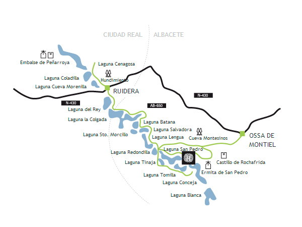 mapa de Hotel Rural Albamanjon