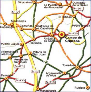 mapa de Hotel Rural La Casa De Los 3 Cielos