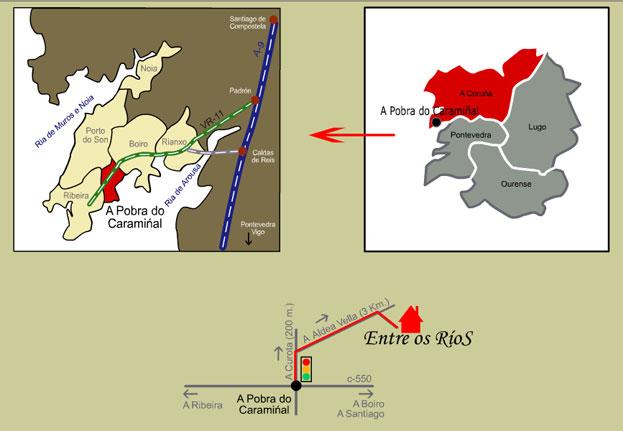 mapa de Entre Os Rios