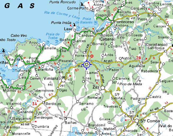 mapa de Hotel Rustico** Casa Do Vento