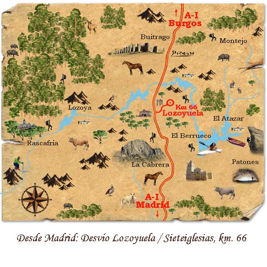 mapa de Las Casas De Angela