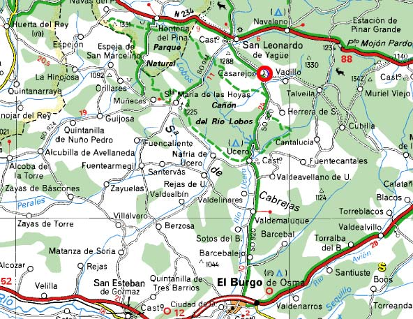 mapa de Cabaña Real De Carreteros